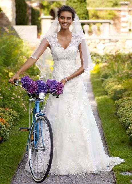Wedding dress a-line: David Bridal, Wedding Dressses, Lace Wedding Dresses, Bridal Collection, Head Of Garlic, Cap Sleeve, Dreams Dresses, The Dresses, Lace Dresses