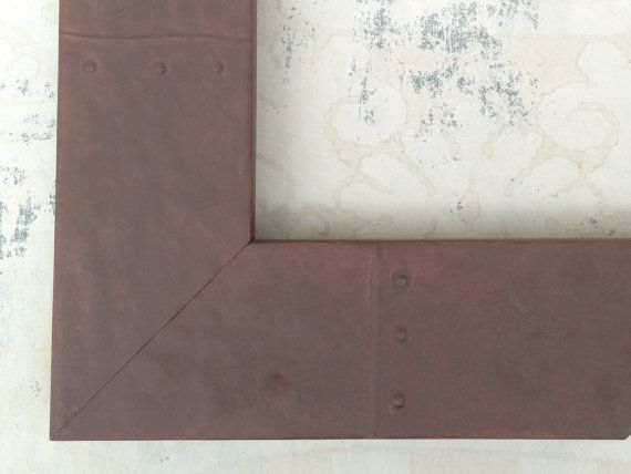 Industrial  Rusted Metal Finish Picture Frame 4x6 by FrameAndWire