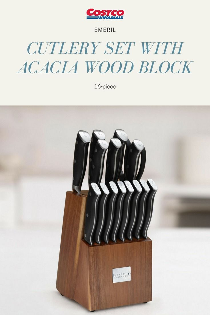 surprising Ja Henckels Knife Set Costco Part - 19: Cook like a pro with this fabulous Emeril Lagasse 16-piece Cutlery Set.  Precision blades and ergonomic handles make prep a breeze.