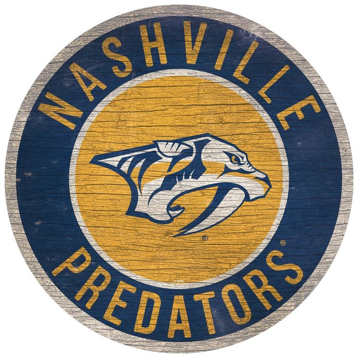"NHL Nashville Predators State Wooden Wall Art 12"", Adult"