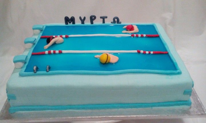 Swimming pool cake by Konstantina Chalkia