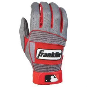 Franklin Neo Classic ll Batting Gloves Pair-Grey/Red Delivery Australia Wide Authentic On-field professional model DIGITAL leather palm with QUAD-FLEX creasing TRI-CURVE construction Floating thumb technology Breathable ventilated back