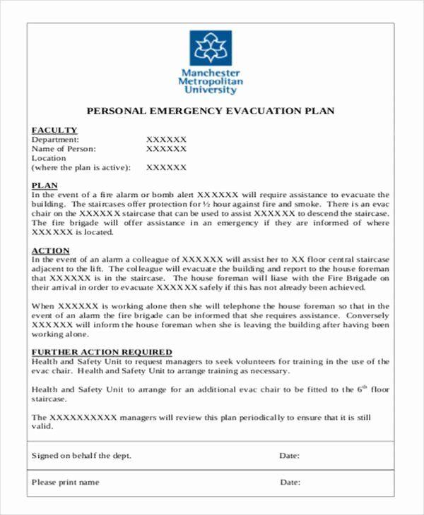 Home Evacuation Plan Template New 9 Evacuation Plan Samples