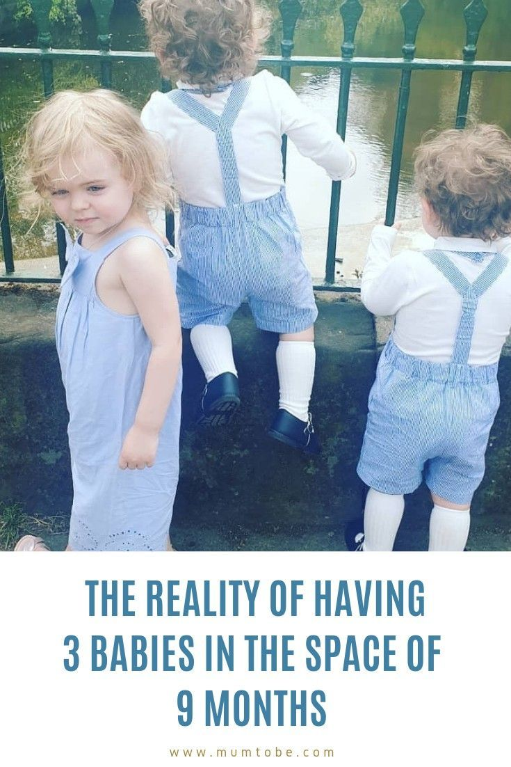The reality of having 3 babies in the space of 9 months – these are not triplets. …   – twins