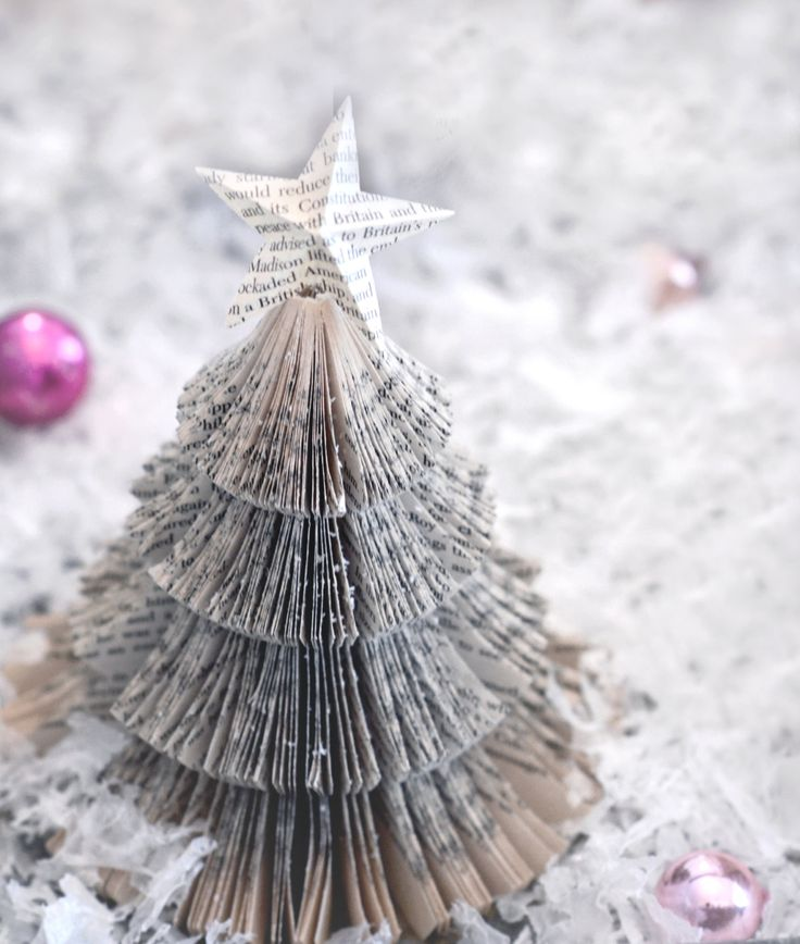 Vintage paper Christmas tree (photography print)
