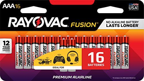 RAYOVAC AAA 16-Pack FUSION Premium Alkaline Batteries 824-16LTFUSK