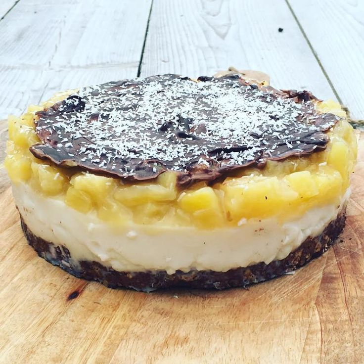 GEZONDE TAART: Ananas kokostaart met pure chocolade