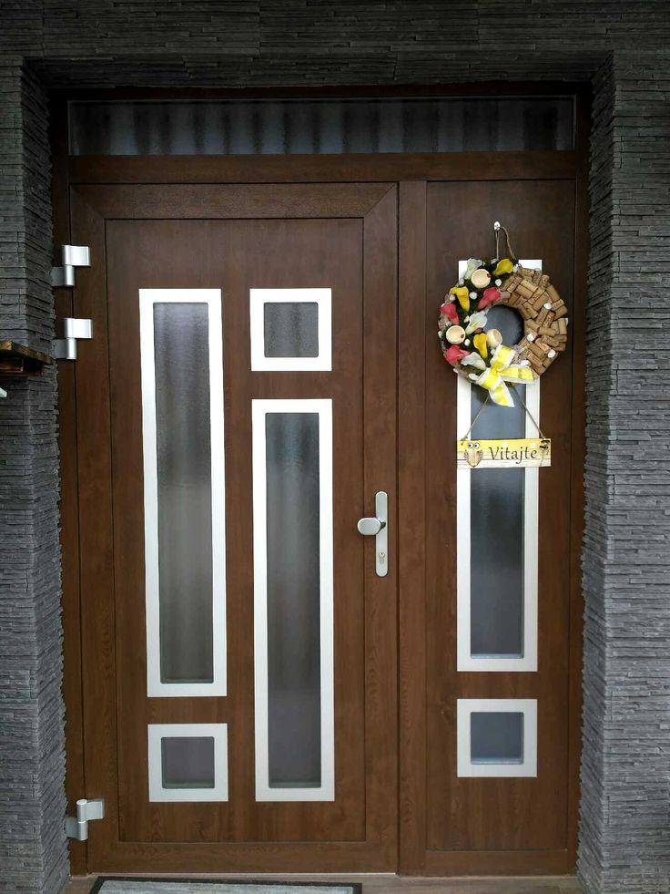 Vchodové dvere s HPL dvernou výplňou GAVA 946b 946/2