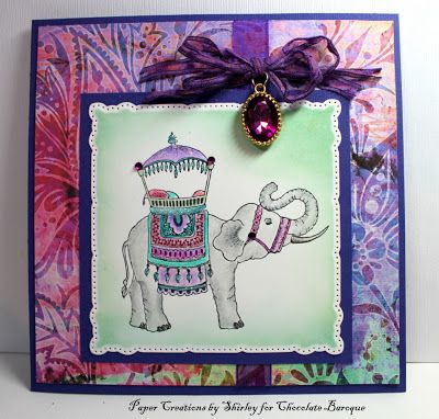 Card by Shirley Deatcher. Rubber stamps by Chocolate Baroque