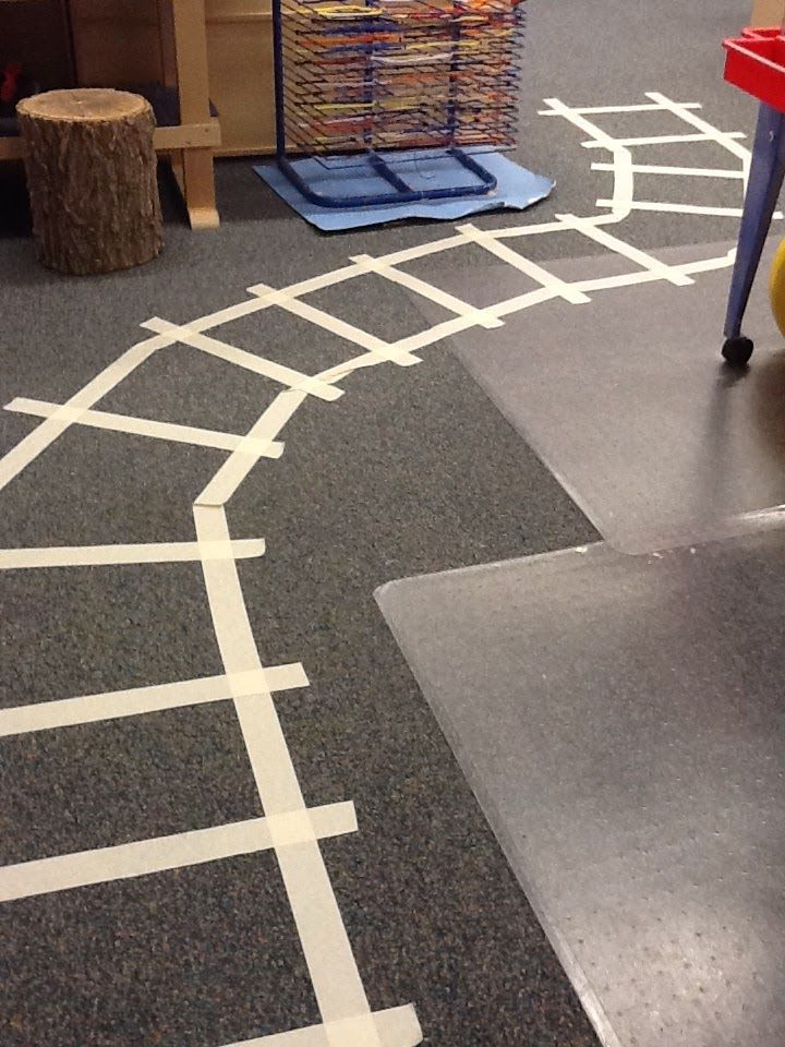 A fun train (and polar express) obstacle course to encourage application of prepositions with preschoolers.