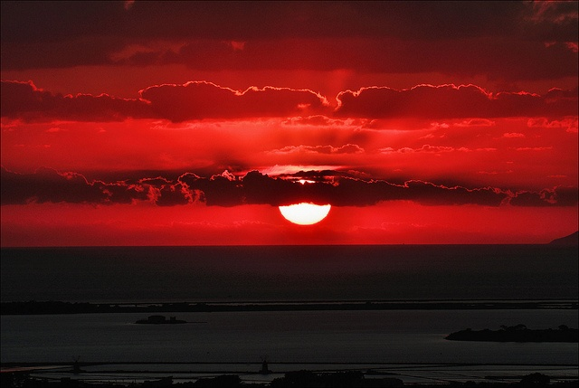 red sunset, marsala, sicily - where my mom is from-so beautiful.