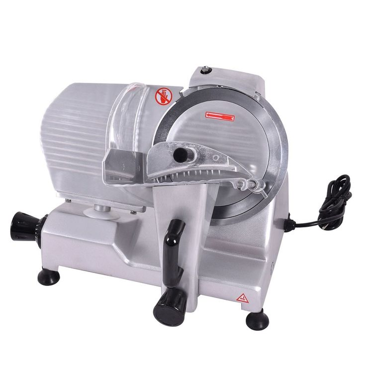Costway 9'' Blade Commercial Meat Slicer Deli Meat Cheese Food Slicer Industrial, Silver aluminum