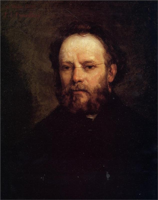 Portrait of Pierre Joseph Proudhon, 1865  Gustave Courbet