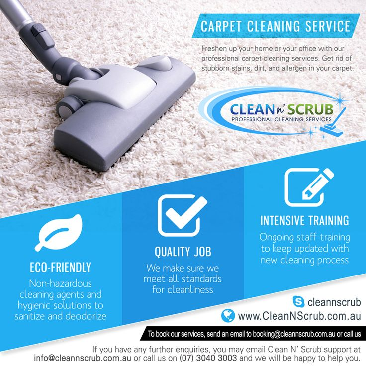 Carpet Cleaning Freshen up your home or your office with our professional carpet cleaning services in Brisbane, to get rid of stubborn stains, dirt, reducing allergen and dust mites in your carpet.  Visit our website at www.CleanNScrub.com to view our services.  You can book our services by sending us an email to booking@cleannscrub.com.au or contact us on (07) 3040 3003.  #cleaningcompany #cleannscrub #brisbane #clean #bondcleaning #gardening #carpetcleaning #pestcontrol…