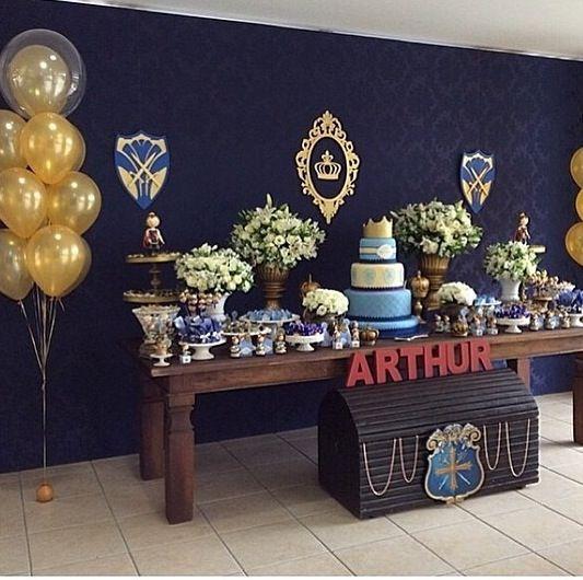 Decoracao festa rei arthur lindíssima