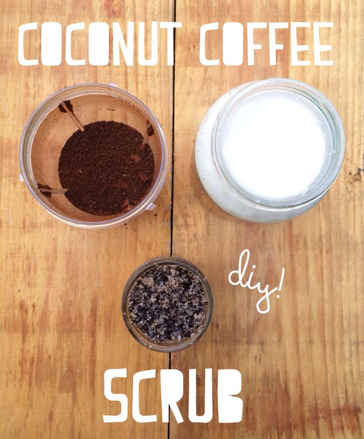 Coconut Coffee Anti-Cellulite Scrub. Natural #DIY solution for soft, dimple-free skin! #beauty