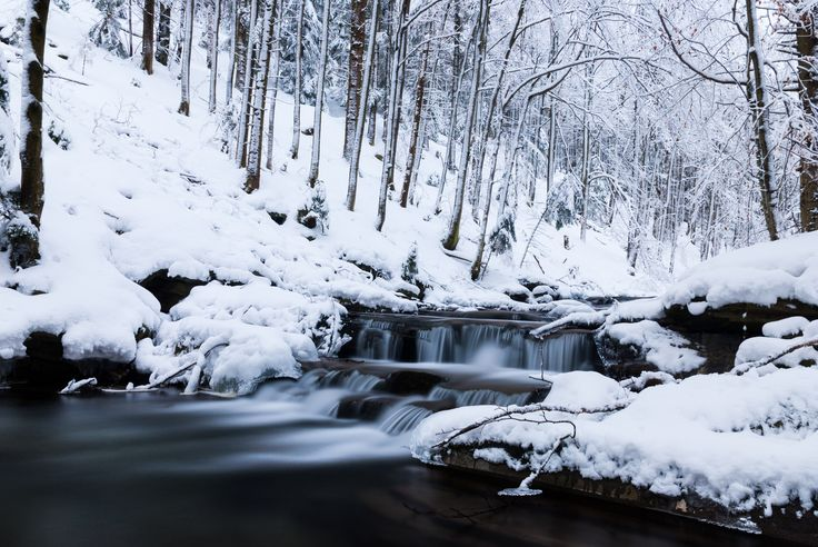 Winter stream by Mateusz Kuca on 500px