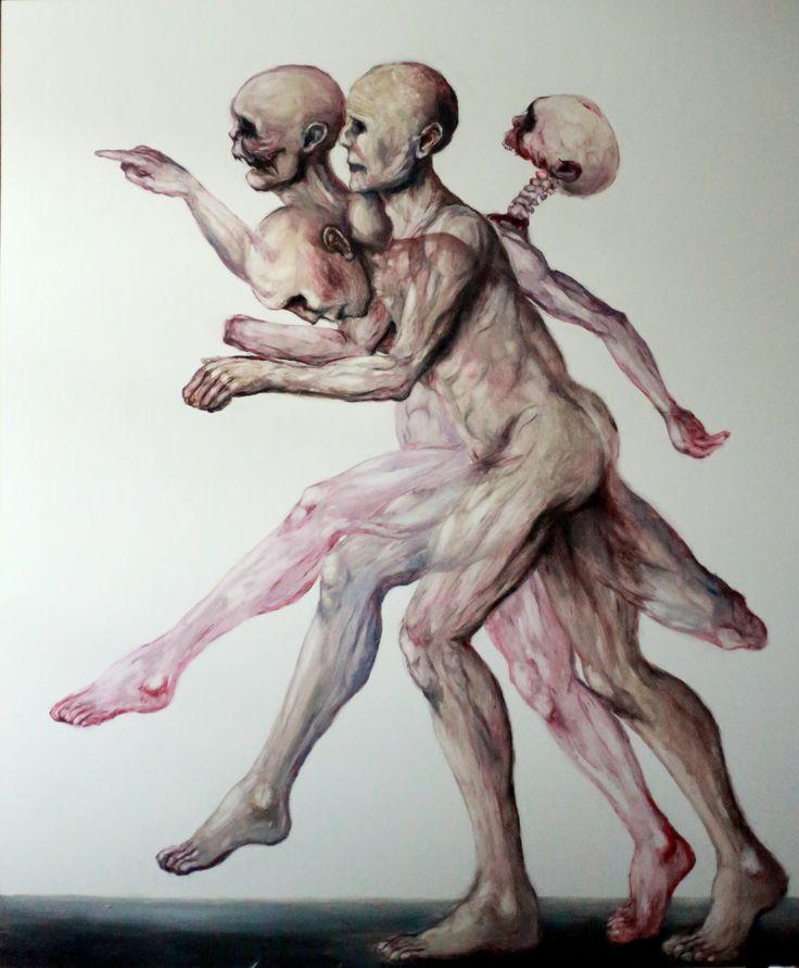 """Kacper Piskorowski """"Anatomical theatre"""" oil on board, 120-100 cm, 2015"""