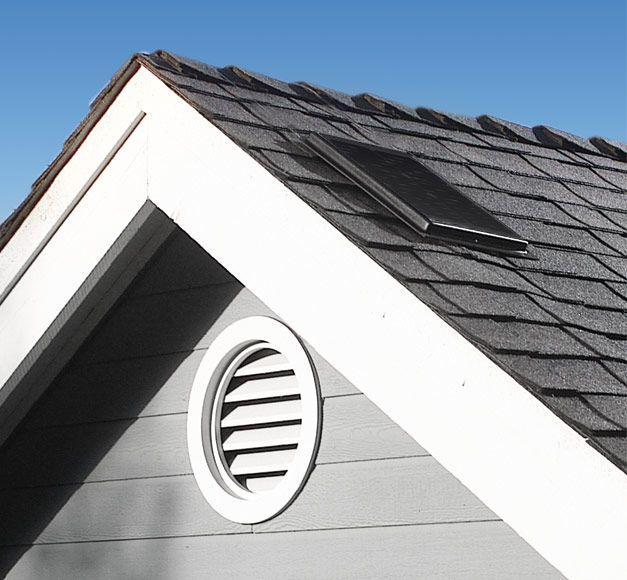 Image Of The Solar Attic Fan Model Interior Mount 1500 Solar