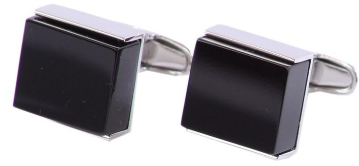 Denison boston Luxe Square Black Onyx Stainless Cufflinks