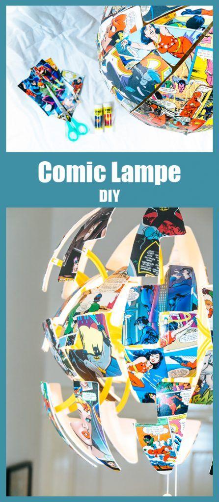 Ikea Hack – DC Comic Lampe selber machen mit UHU