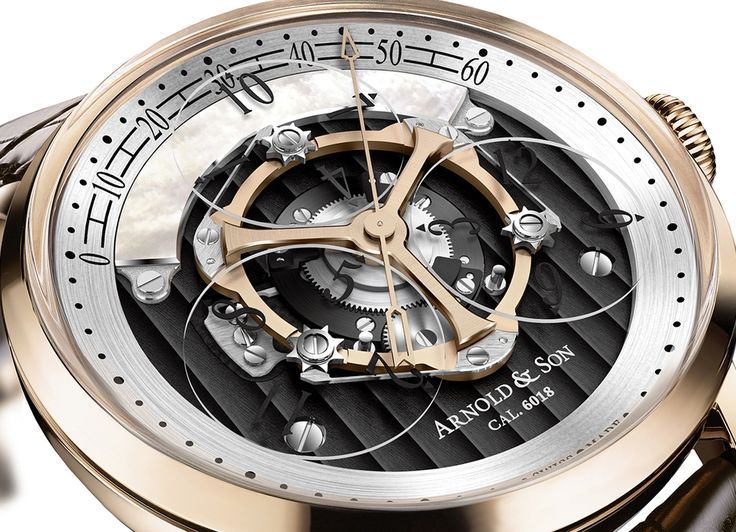 Arnold & Son Releases a New Version of the Golden Wheel. A 125-piece Limited Edition with Black ADLC Treated Dial Plate and Black Numerals