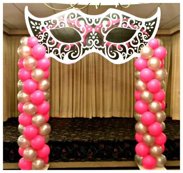 25 best ideas about masquerade ball decorations on for Balloon decoration equipment
