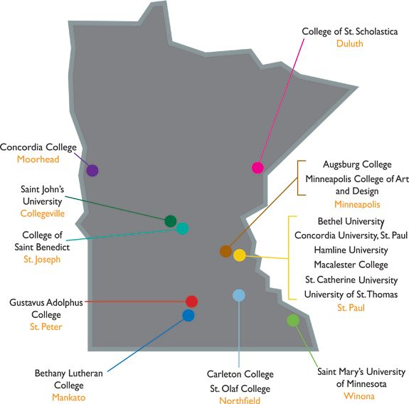 Map Ivy League Schools