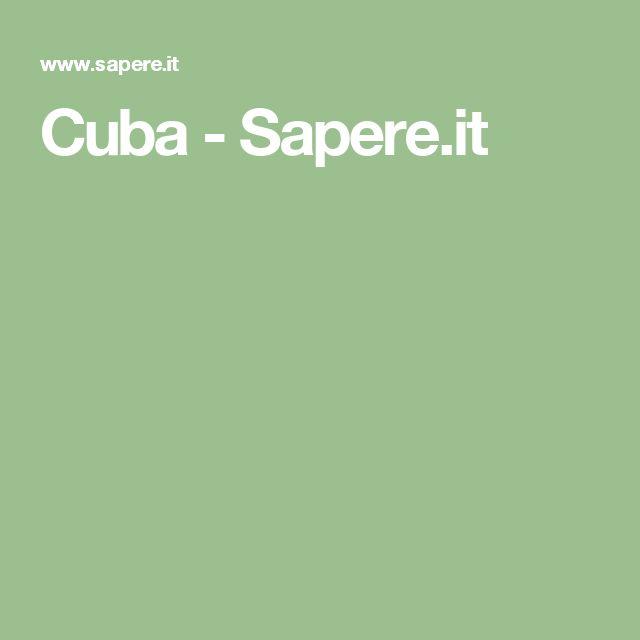 Cuba - Sapere.it