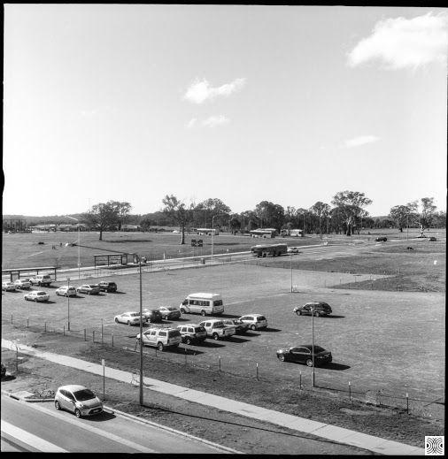 My Canberra - on film mainly Gungahlin, parking lot, back in 2015  Flexaret, Kodak T-Max 100  www.pavelvrzala.com  #Australia #Canberra #Civic #parkinglot #city #landscape #cars #Kodak #TMax100 #film #Flexaret #blackandwhite