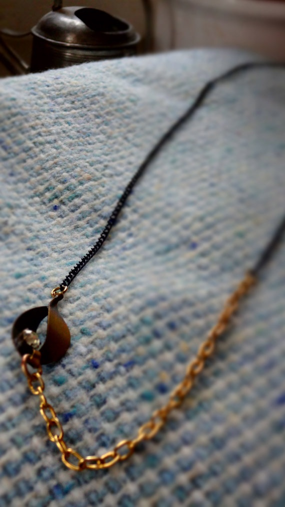 Black and Gold coloured chain with diamond effect by Kittycrabtree, €12.00