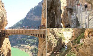 It is known as El Caminito del Rey (the King's little pathway) and was a popular challenge for adventurers until five people lost their lives while taking on the path between 1999 and 2000.