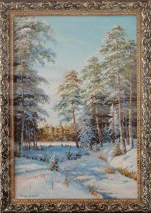 Рассвет в зимнем лесу - Зимний пейзаж <- Картины маслом <- Картины - Каталог | Универсальный интернет-магазин подарков и сувениров