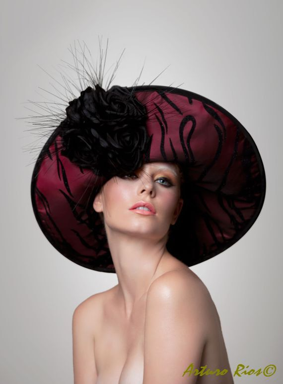 Couture Derby Hat Angelina by ArturoRios on Etsy,