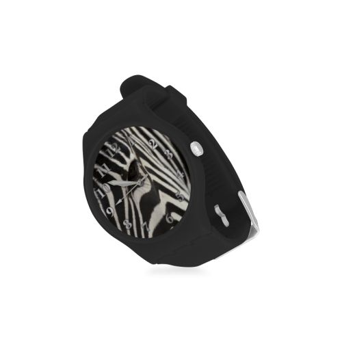 Zebra Unisex Round Rubber Sport Watch. FREE Shipping. #artsadd #watches #zebra