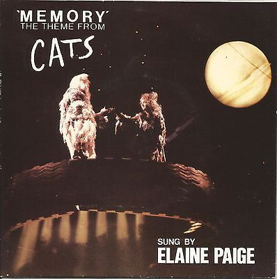 ELAINE PAIGE - MEMORY (THEME FROM CATS) - MINT- 7 SINGLE