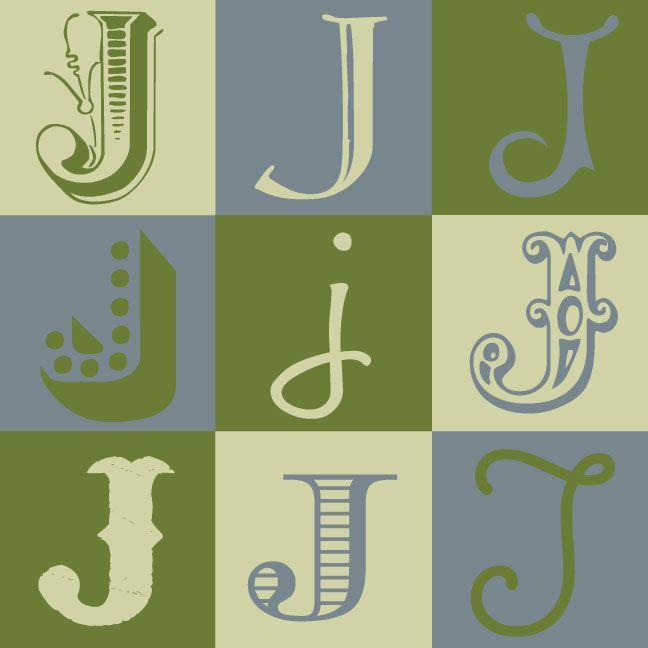 Inkblot paper designs the letter j just j pinterest for 24 cardboard letters