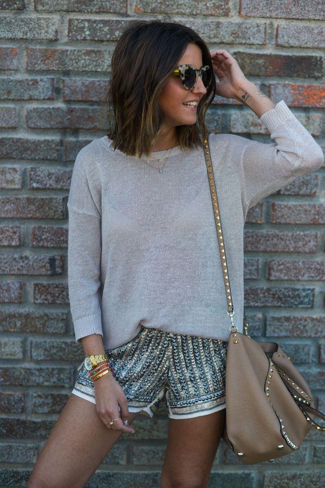 Embellished shorts.