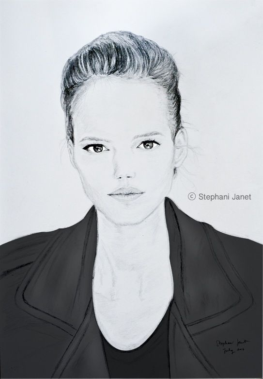 portrait of Freja by me..  for more: janet128art.blogspot.com