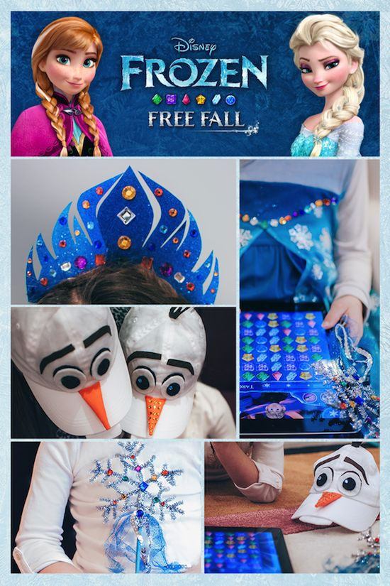 Frozen Free Fall inspired costumes - perfect for dress-up while playing the app! iOs: click image, Android: http://di.sn/h01o