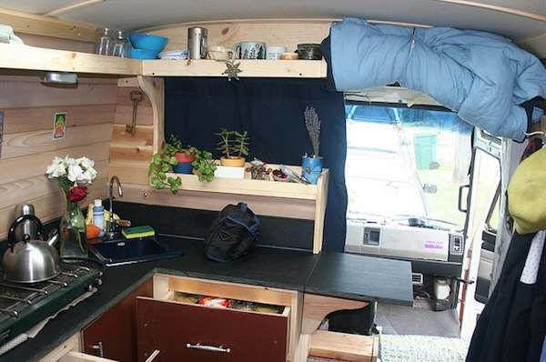 Diy Motorhome Work Van Converted To Housetruck 0011 Work