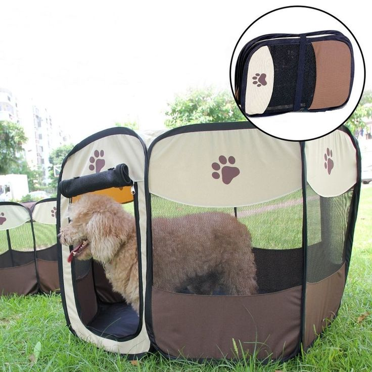 Small Dog Cage Portable Folding Playpen Tent Travel Durable Crate Coffee | Pet Supplies, Dog Supplies, Cages | eBay!
