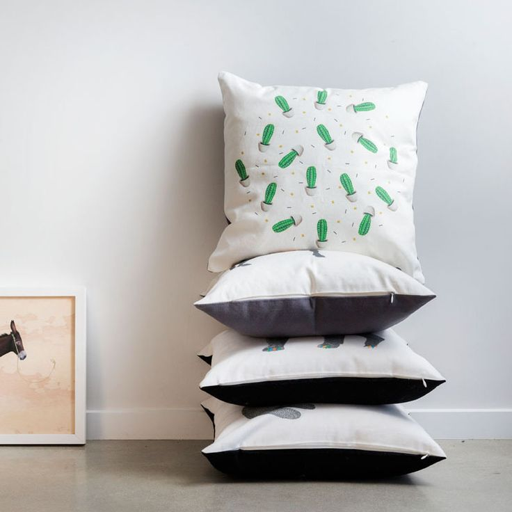 Cactus Cushion by Laura Shallcrass