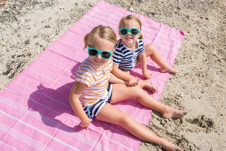 It's a necessity kids looking cool sat on a Hammamas turkish towel - perfect for the beach