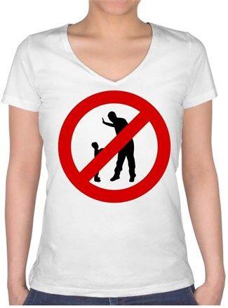 Şiddete Hayır Kendin Tasarla - Bayan V Yaka Tişört
