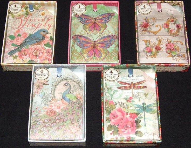 Punch Studio Scented Fragrance Drawer Wardrobe Sachets/Bags x 4 In Box 5 Designs #PunchStudio #VintageRetro