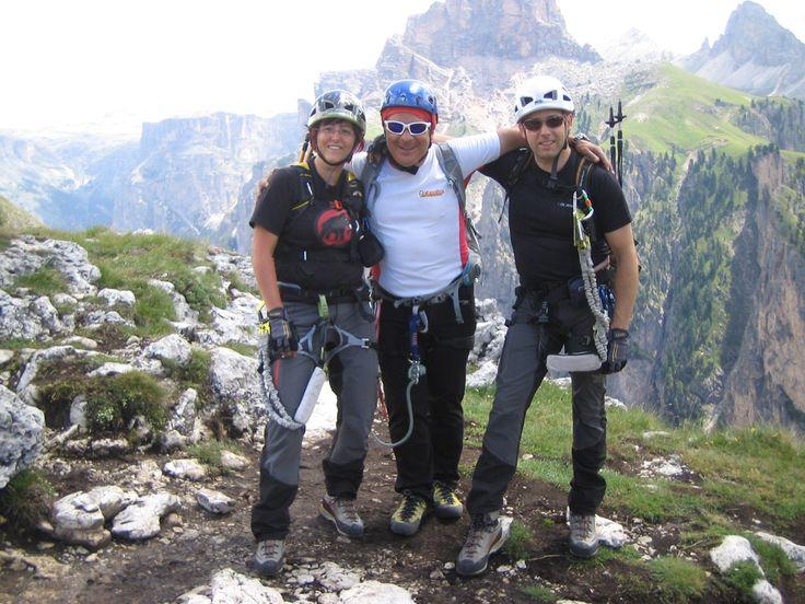 Dennis e simona in cima alla ferrata Pertini Val Gardena