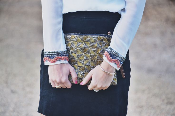 Beaded sleeves and clutch  www.itsallchictome.com