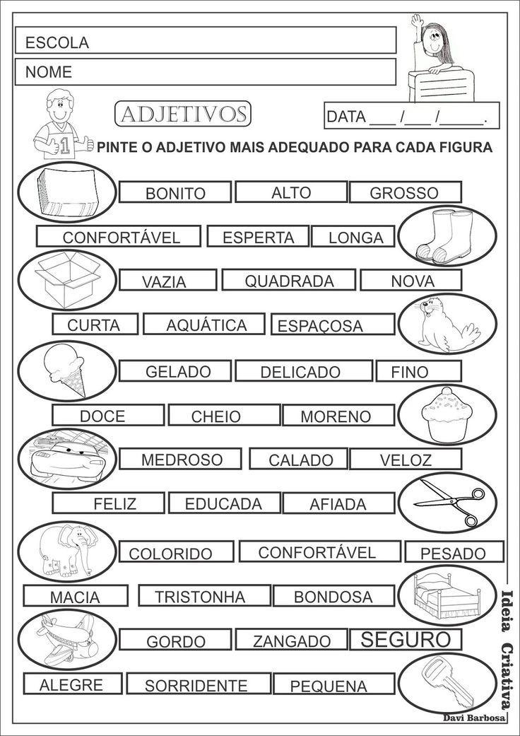 Resultado de imagem para exercicios de sinonimos e antonimos, coletivos, plural,artigos,substantivos proprios e comum e adjetivos