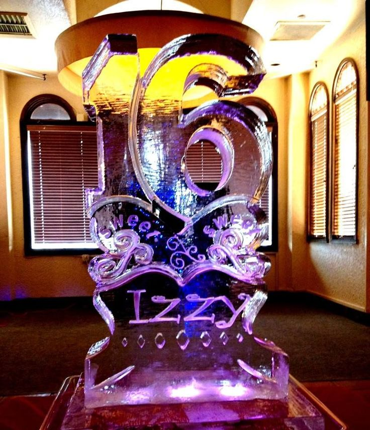 Sweet 16 ice sculpture for a birthday party!